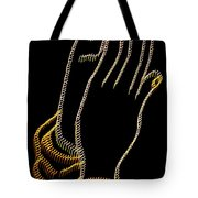 With Trembling. Hands Tote Bag