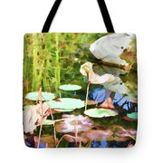 Withered Lotus In The Pond 2 Tote Bag