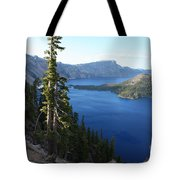 Wizard Island On Crater Lake Tote Bag