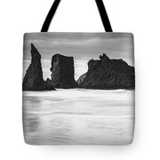 Wizard's Hat Sea Stack - Black And White Tote Bag