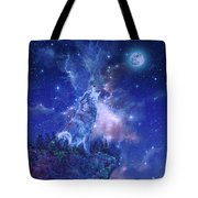 Wolf And Sky Blue 2 Tote Bag