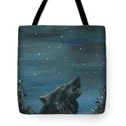 Wolf And The Stars Tote Bag