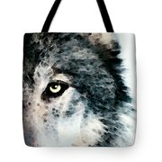 Wolf Art - Timber Tote Bag by Sharon Cummings