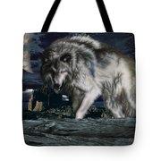 Wolf At Night Tote Bag