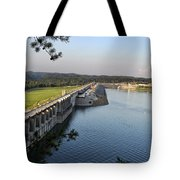 Wolf Creek Dam Tote Bag by Amber Flowers