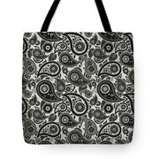 Wolf Gray Paisley Design Tote Bag