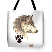 Wolf Head Profile Tote Bag