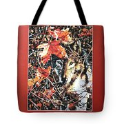 Wolf Hiding In Branches Tote Bag