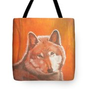 Wolf Home Burning Tote Bag
