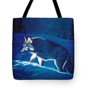Wolf In The Headlights Tote Bag