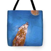 Wolf In The Night Tote Bag