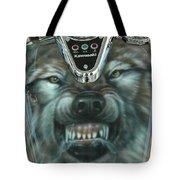 Wolf Motorcycle Gas Tank Tote Bag