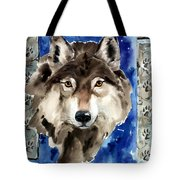 Wolf Tote Bag by Nadi Spencer