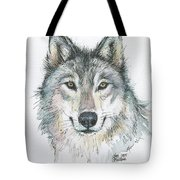 Wolf Tote Bag by Olga Shvartsur