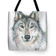 Wolf Tote Bag by Olga Shvartsur