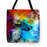 Wolf Playing With Butterflies Tote Bag