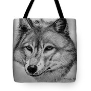 Wolf Sketch Tote Bag
