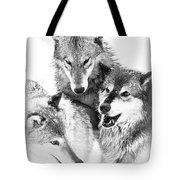 Wolf Triplets Tote Bag