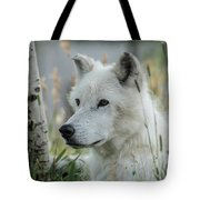 Wolf, White Tote Bag