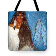 Wolf Woman Tote Bag