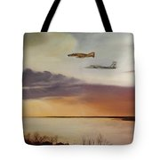 Wolfhounds On Patrol Tote Bag