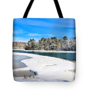 Wolf's Neck Farm Road Tote Bag