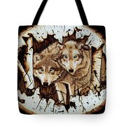 Wolves In Hiding Tote Bag