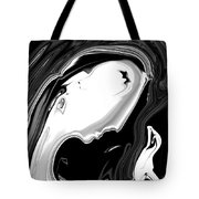 Woman And Bird Tote Bag