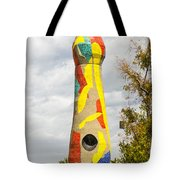 Woman And Bird Statue - Barcelona Spain Tote Bag