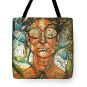 Woman And Fishes Tote Bag