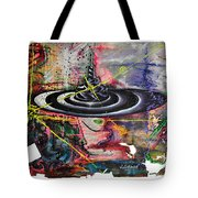 Woman And Hat Tote Bag