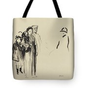 Woman And Two Children With German Soldiers Tote Bag