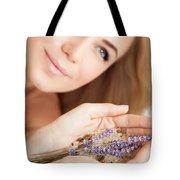 Woman At Beauty Salon Tote Bag