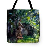 Woman At The Fountain Tote Bag