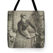 Woman At The Gate Tote Bag