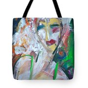 Woman At The Jazz Club Tote Bag