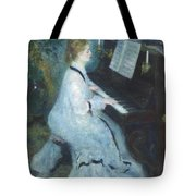Woman At The Piano Tote Bag