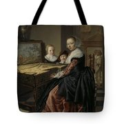 Woman At The Virginal Tote Bag
