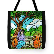 Woman At The Well Tote Bag