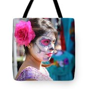 Woman Beautiful Day Of The Dead  Tote Bag