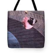 Woman Committing Suicide By Jumping Off Of A Bridge Tote Bag