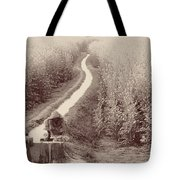 Woman Doing Laundry In Canal- Sepia Tote Bag