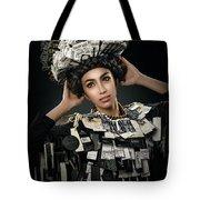 Woman Dressed In Price Tag Tote Bag
