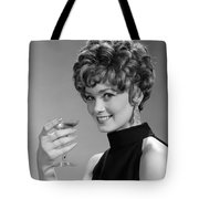 Woman Drinking Champagne, C.1960s Tote Bag