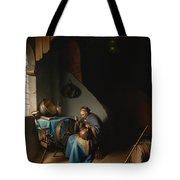 Woman Eating Porridge Tote Bag