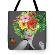 Woman Floral  Tote Bag