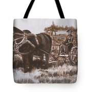 Woman Haying Historical Vignette Tote Bag