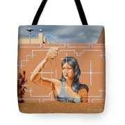 Woman Holding The Sands Of Time Tote Bag