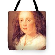 Woman In A Black Veil Tote Bag