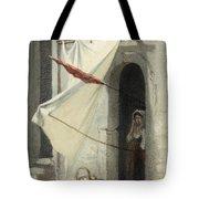 Woman In A Doorway. Rome Tote Bag